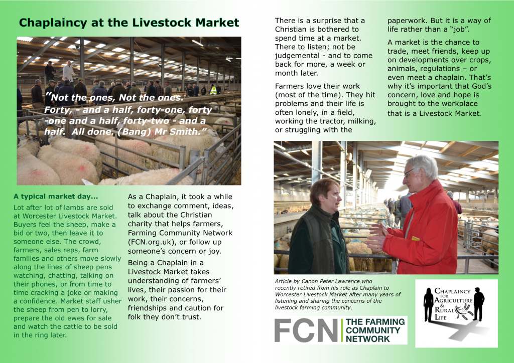 Livestock Chaplaincy Article