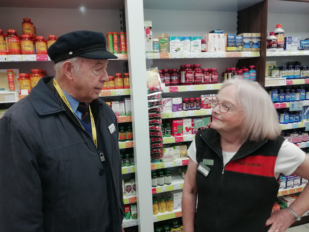 Malcolm Wilkes in Kingfisher Shipping Centre, Redditch