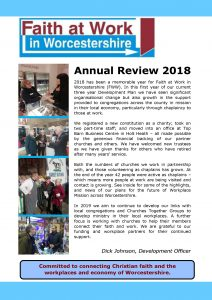 front cover Annual Review 2018