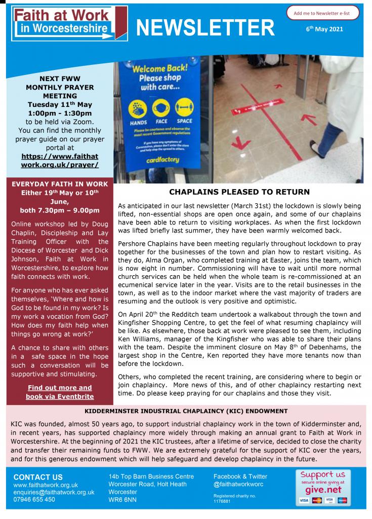 FWW Newsletter 06-05-21