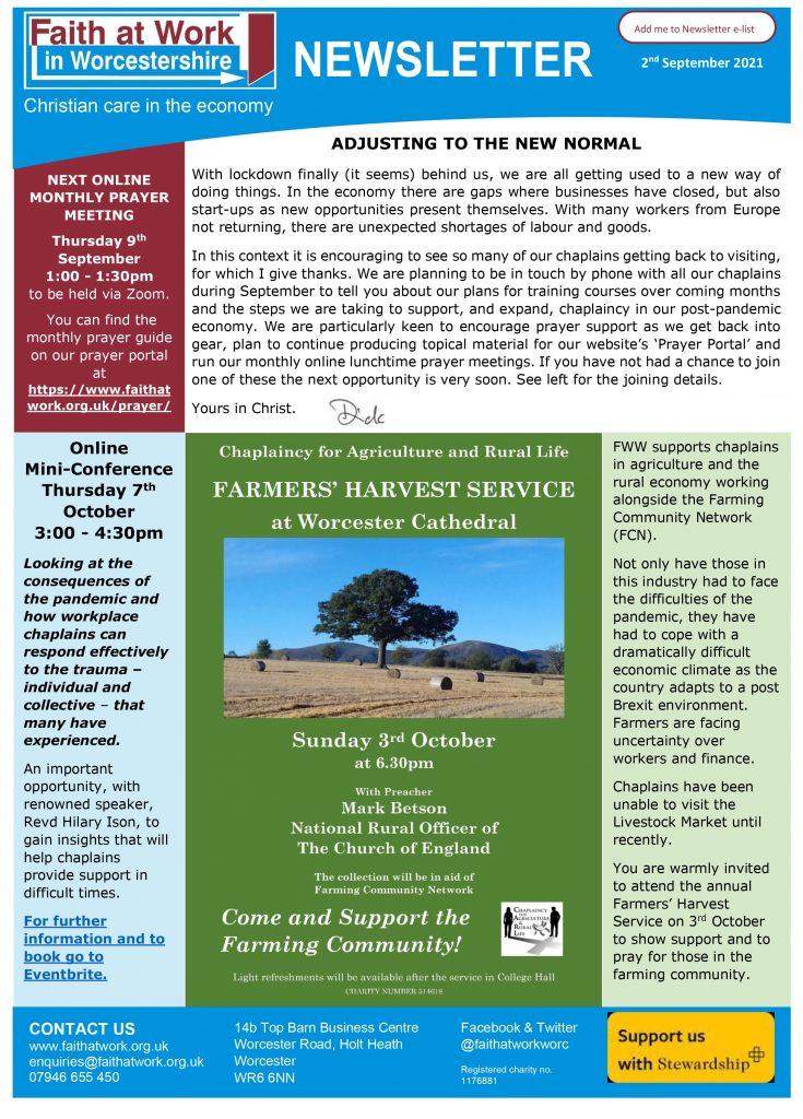 FWW Newsletter 02-09-2021